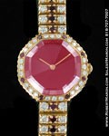 GERALD GENTA LADIES DIAMONDS & RUBY