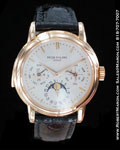 PATEK PHILIPPE MINUTE REPEATER PERPETUAL CALENDAR MOONPHASE 18K YELLOW GOLD
